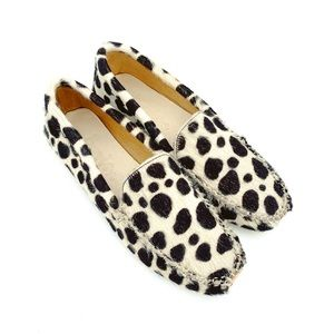 Boden Spotted Calf Hair Loafers Flats Animal Print